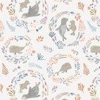 Baumwollstoff Popeline Seehunde - multicolor