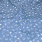 Baumwoll Popeline Gänseblümchen - hellblau