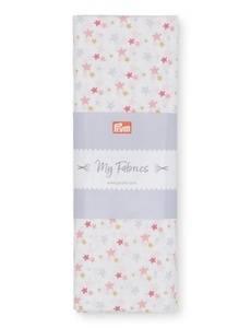 Baumwolle Luxina 1B weiß/rosa