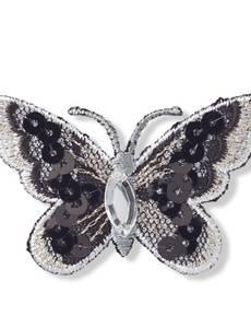 Applikation Schmetterling, schwarz/weiß