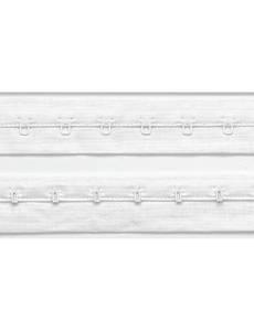 Haken- und Augenband, mit Abstand 19mm, weiß