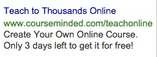 AdWords Giveaway Ad