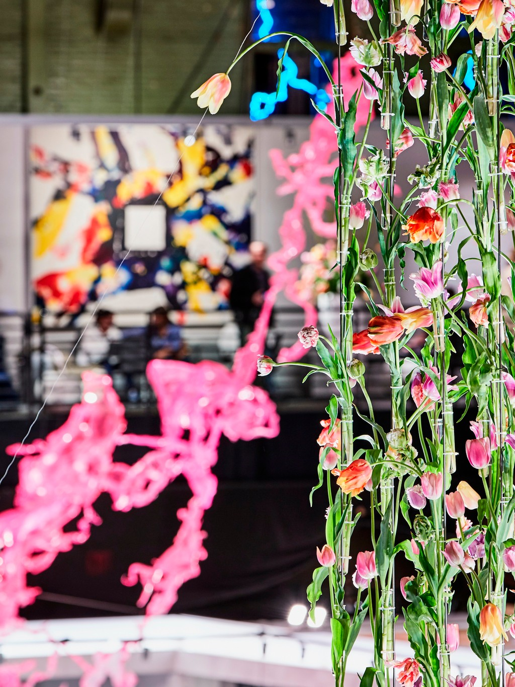 flowers at art gallery
