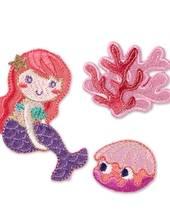 Applikation Meerjungfrau, selbstklebend und aufbügelbar