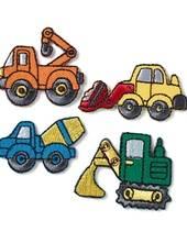 Applikation Baufahrzeuge, selbstklebend und aufbügelbar