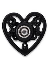 Annäh-Druckknöpfe, 18mm, Herz, schwarz