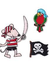 Applikation Piraten, selbstklebend und aufbügelbar