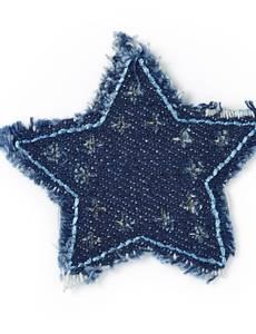 Applikation Jeans Stern, mit Fransen