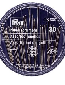 Näh-, Stick- und Stopfnadeln in Compact-Dose, 30 Nadeln