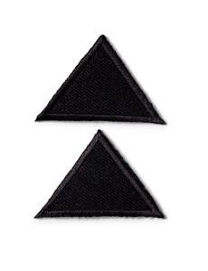 Applikation Dreiecke, klein, braun