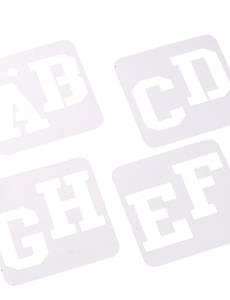 Schablonen für Alphabet sortiert
