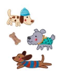 Applikation Hunde, selbstklebend und aufbügelbar