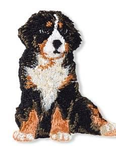 Applikation Sennenhund, braun/schwarz