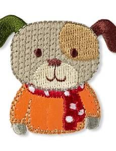 Applikation Hund, braun/orange