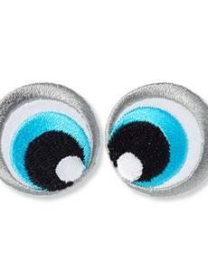 Applikation Augen, schwarz/weiß/blau