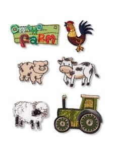 Applikation Farm, selbstklebend und aufbügelbar