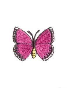 Applikation Schmetterling, pink