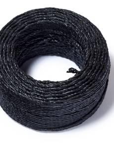 Gewachstes Garn, schwarz, 20m