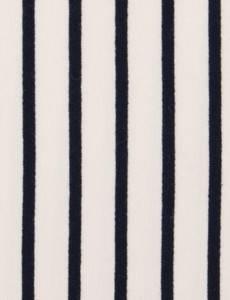 Sweatstoff French Terry Streifen,ecru/ marine