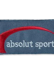 Applikation Jeanslabel, absolut sport