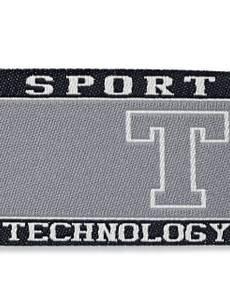 Applikation Label, Sport, schwarz/grau