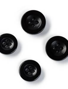 Hosenknöpfe, 15 und 17mm, schwarz
