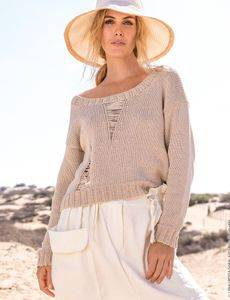 Pullover mit lässigen Fallmaschen