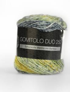 GOMITOLO DUO 250, 906 pastell-/jeans-/dunkelblau/oliv/pastellgrün