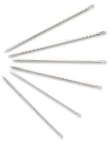 Ledernadeln, Nr.3-7, sortiert, silberfarbig