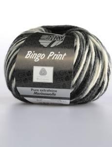 Bingo Print, 310 weiß-grau-dunkelgrau-schwarz