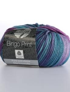 Bingo Print II, 634 lila-blau
