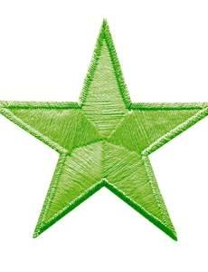 Applikation GLOW IN THE DARK, Sterne, grün