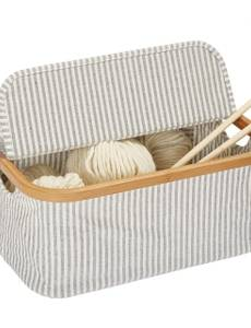 Box Canvas & Bamboo faltbar grau
