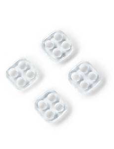 Unternähknöpfe,  transparent