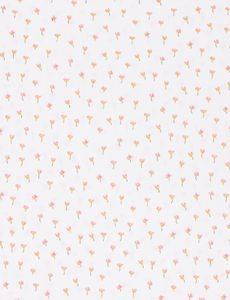 GOTS Baumwollstoff Popeline Flower, weiß