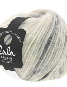 lala BERLIN LOVELY COTTON INSERTO, 101 Rohweiß/Grau