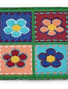 Applikation Patch 4 Blumen eckig