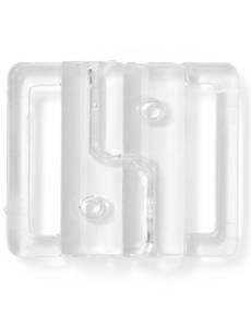 Bikini- und Gürtelverschluss, 20mm, transparent