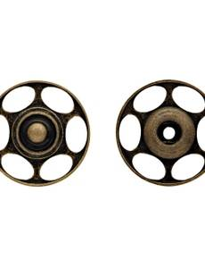 Annäh-Druckknopf für Wolle, 25mm, altmessing