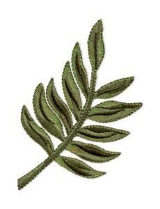 Applikation Blatt Palme, grün