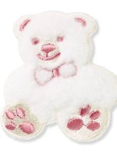 Applikation Teddy, klein, Flausch beige