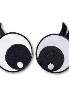 Applikation Augen, schwarz/weiß mit Wimpern