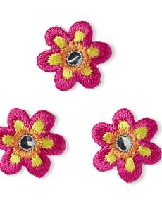 Applikation Blume klein pink mit Spiegel