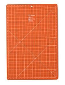 Schneideunterlage cm/inch-Einteilung, 30x45cm, orange