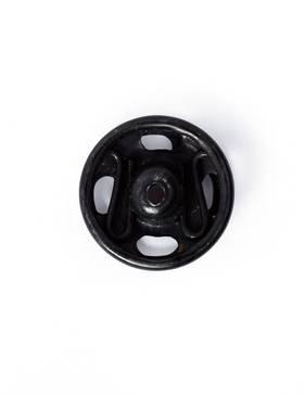 Annäh-Druckknöpfe, 9mm, schwarz