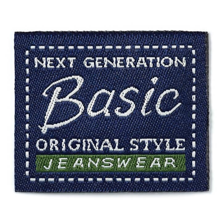 Applikation Jeanslabel, blau, Quadrat, Basic Original Style