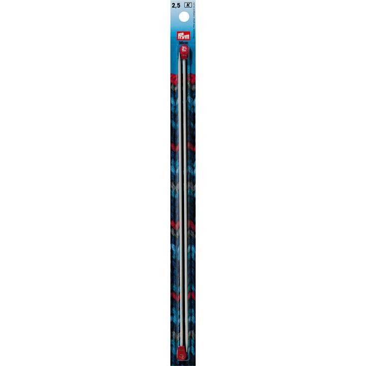 Jackenstricknadeln, Aluminium, 30cm, 2,50mm, grau