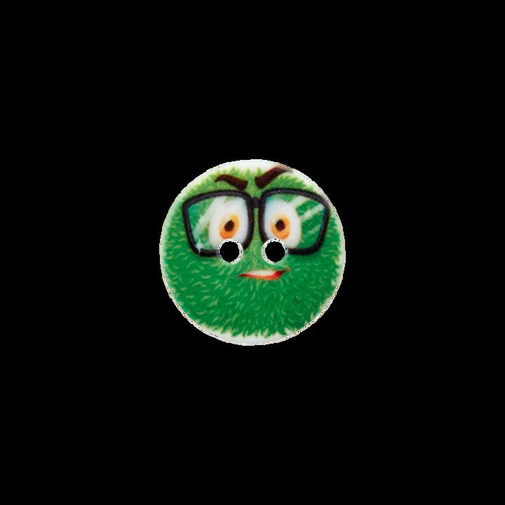 Polyesterknopf 2-Loch Monster