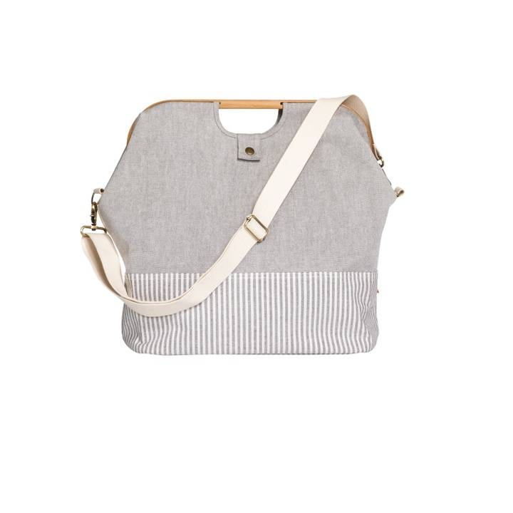"""Store & Travel Bags """"Canvas & Bamboo"""" S in grau"""