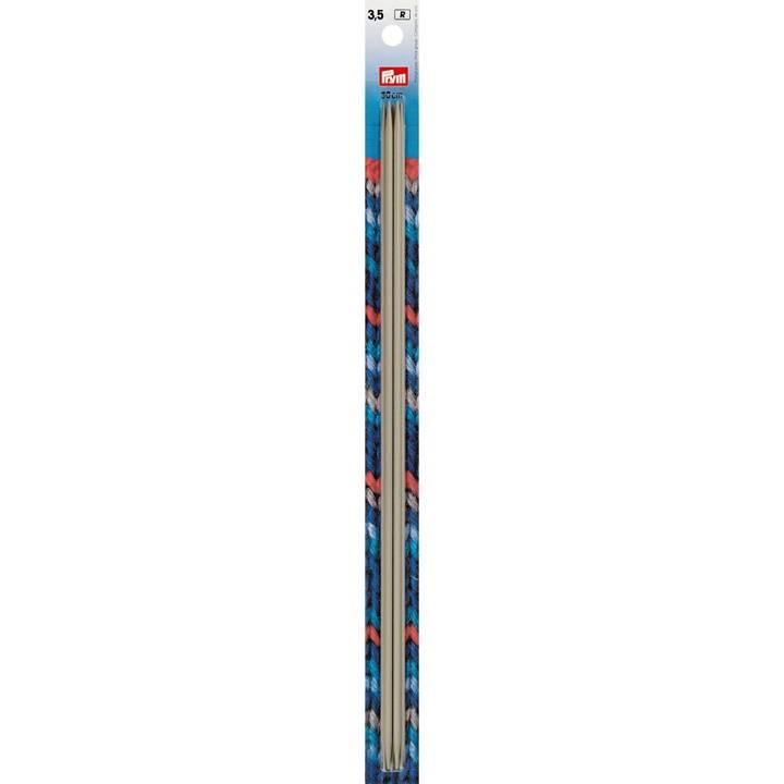 Strumpfstricknadeln, 30cm, 3,50mm, perlgrau